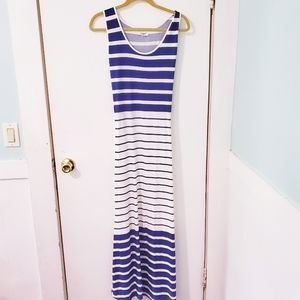 Striped Exist Maxi Dress Size Large